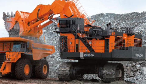 Hitachi EX8000-6 Mining Shovel