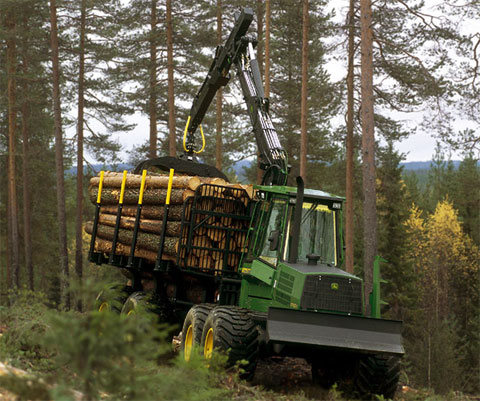 John Deere 1710D Forwarder